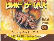 BBQ Sat July 11 2015 - 49th btwn Church/Linden Brooklyn , NY